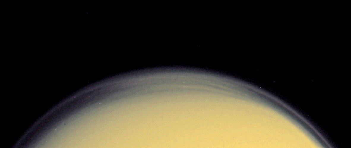 High haze over Titan seen during fly-by