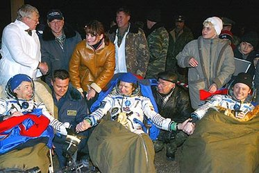 Padalka and Fincke returned to earth after a six-month stay on the Station
