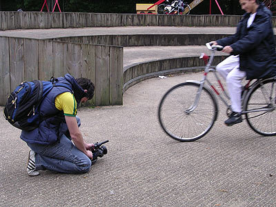 Bicycle filming