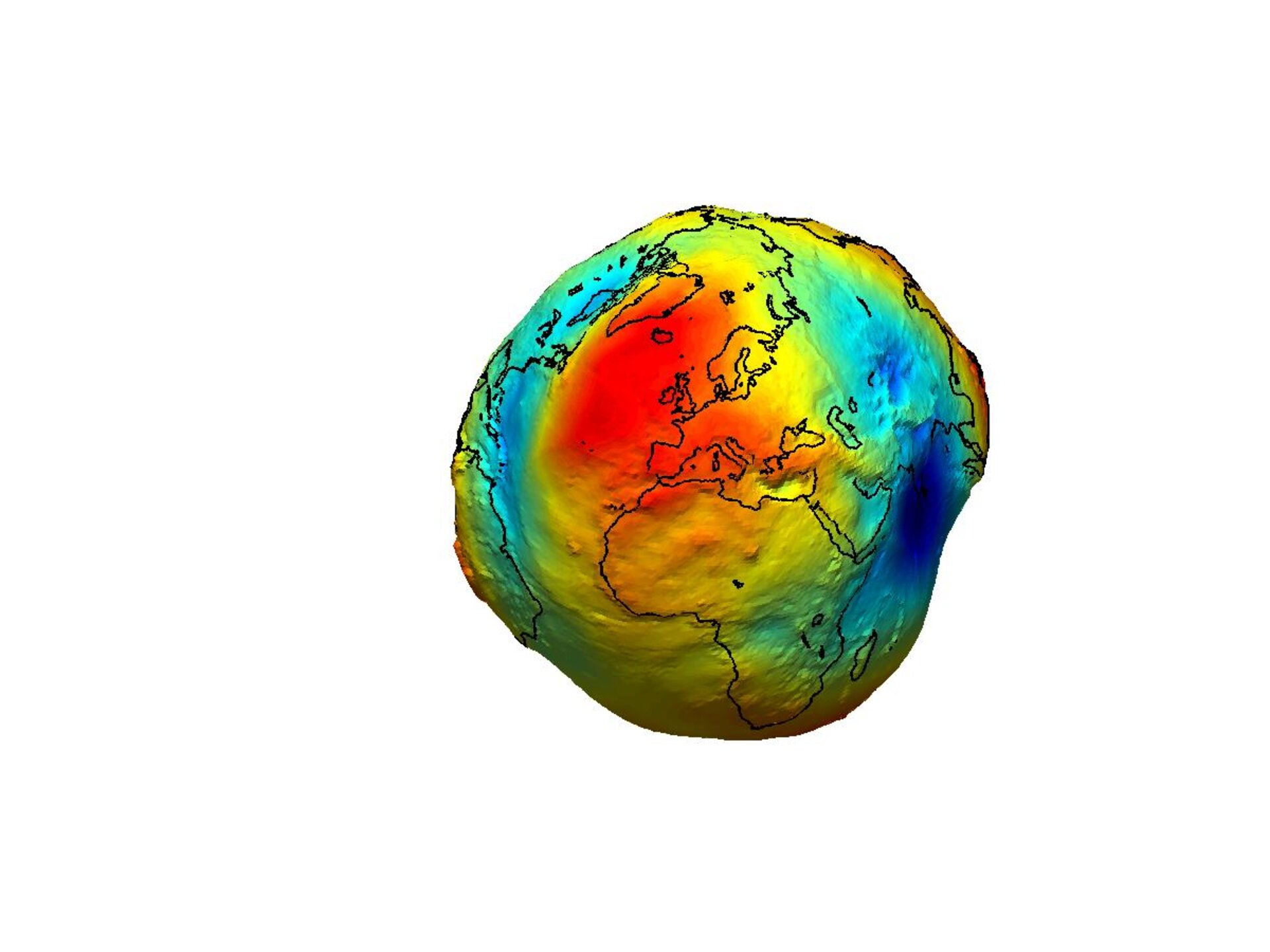 The Earth's gravity field (geoid) as it will be seen by GOCE