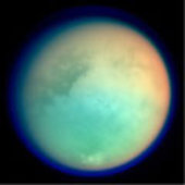 Titan in false colour