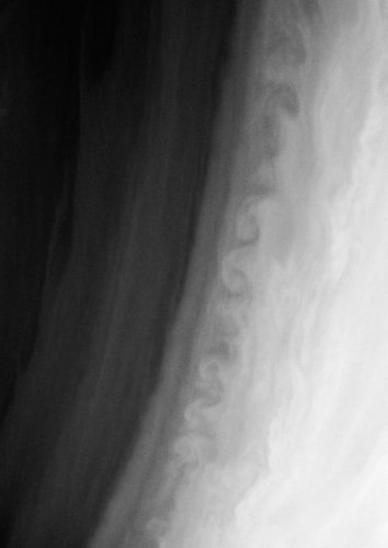 Turbulence in the atmosphere of Saturn