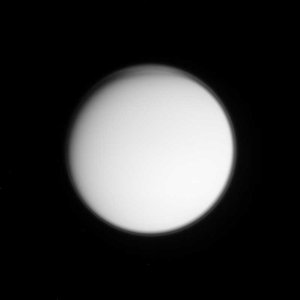 View of Titan's atmosphere