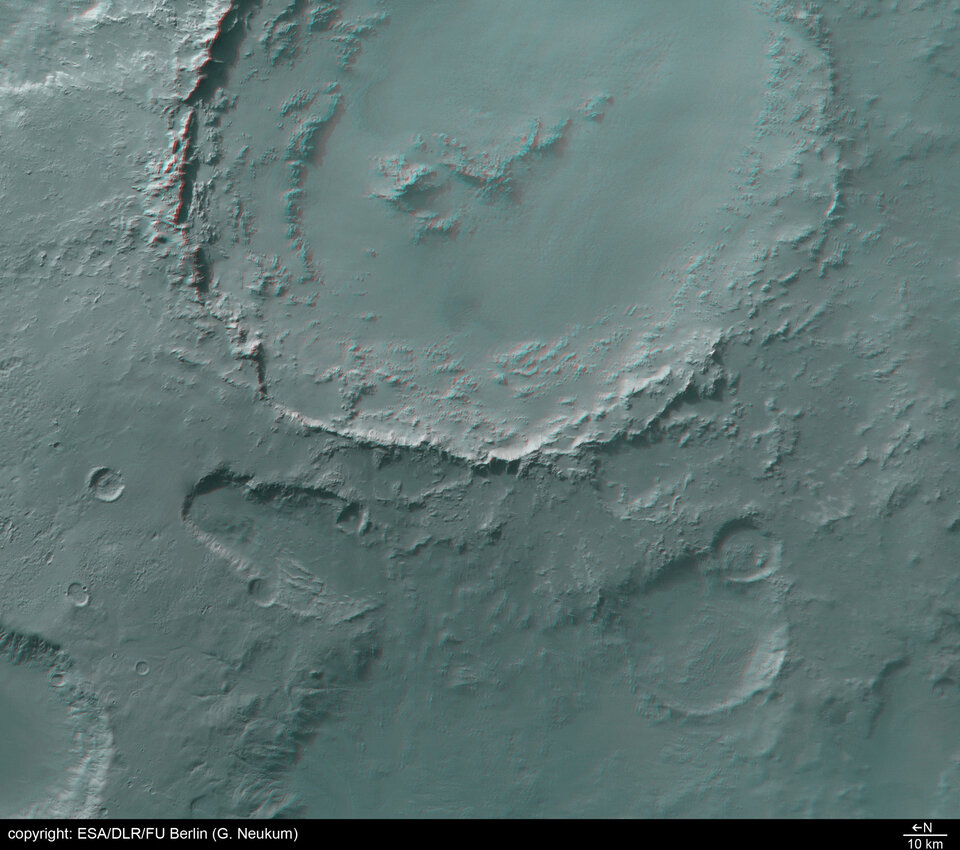 3D image of Crater Hale