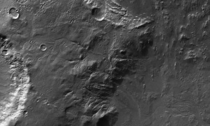 Close-up view of surface near Crater Hale