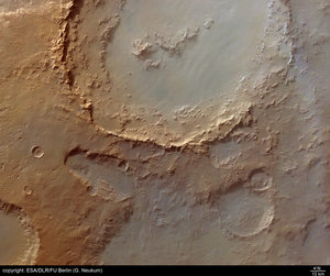 Crater Hale in Argyre basin