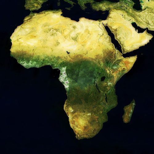 MERIS mosaic of Africa - May 2004