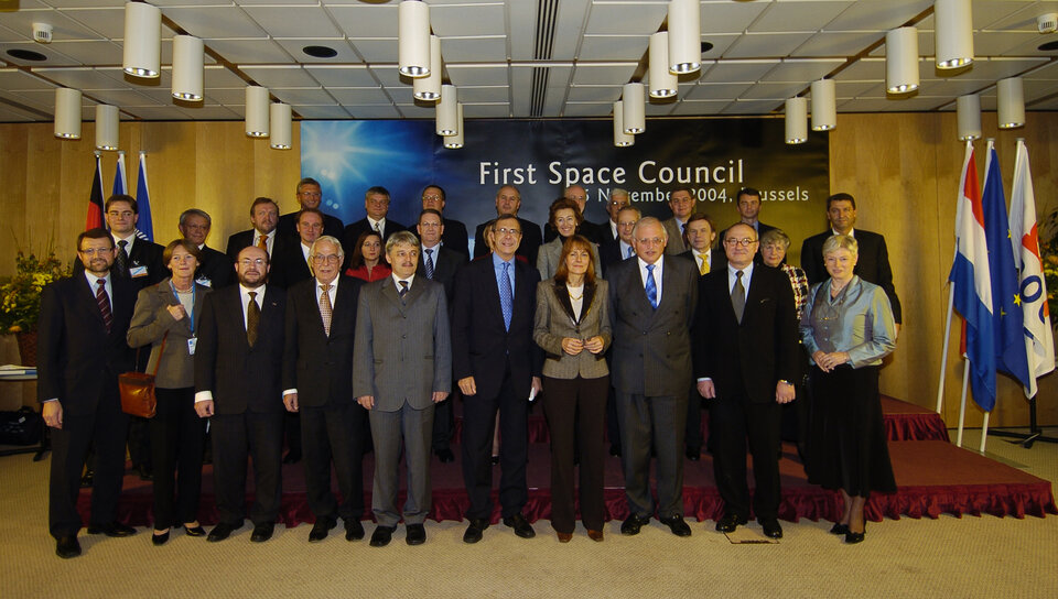 "Participants of the first ""Space Council"""