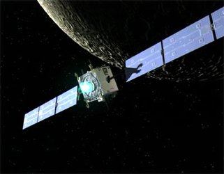 SMART-1 entering lunar orbit