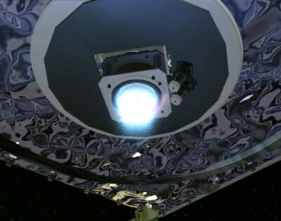 SMART-1 igniting its ion engine