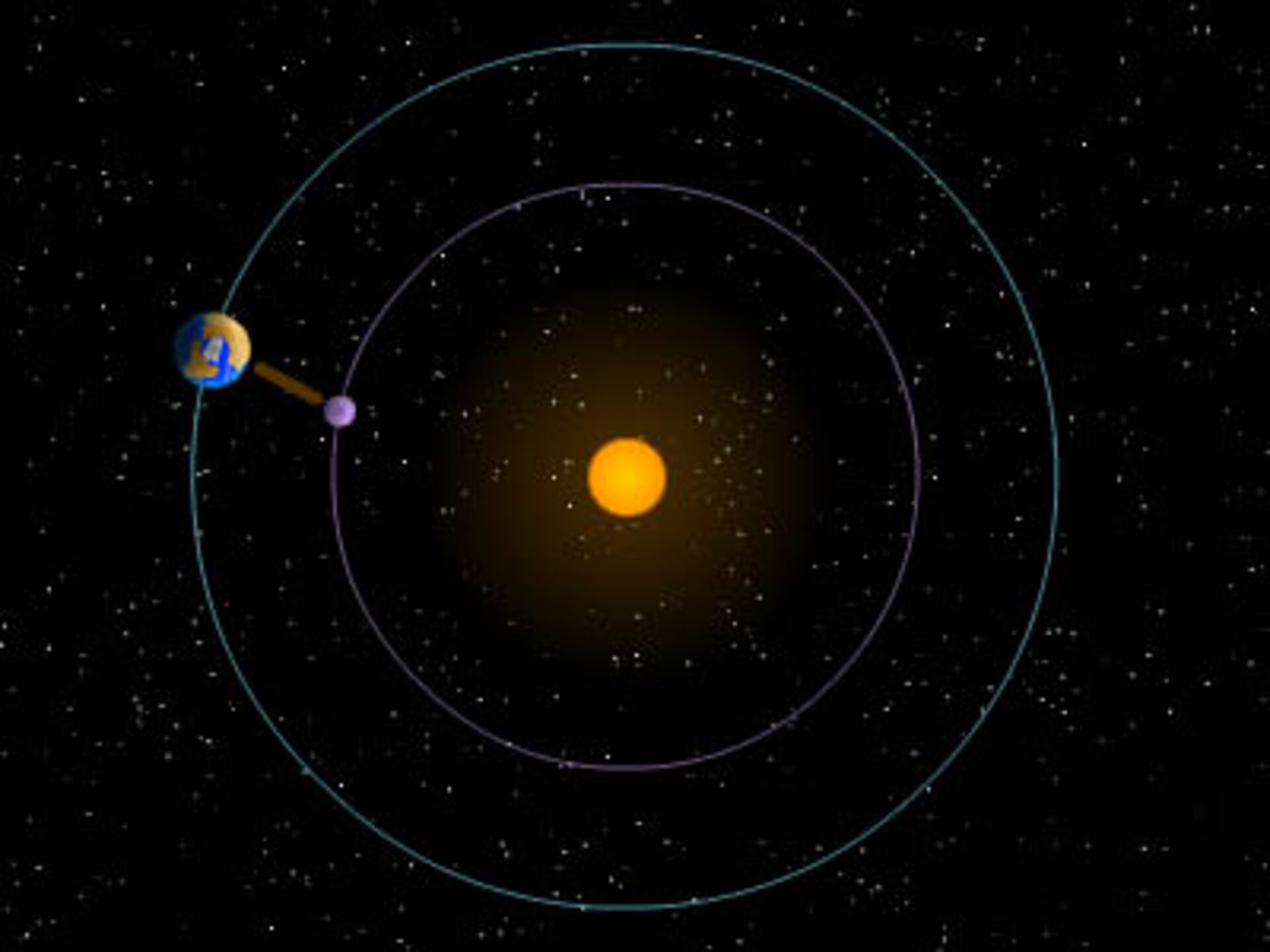 Spacecraft in 'sync' with Earth orbit