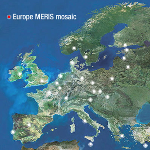 Europe seen by MERIS