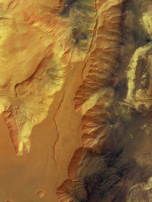 Colour view of Candor Chasma