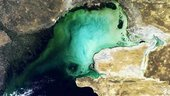 North Caspian Sea, MERIS FR Orbit 0816, 22 September 2003