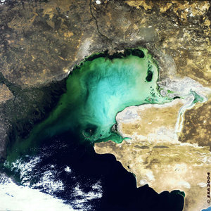 North Caspian Sea, MERIS, 22 September 2003