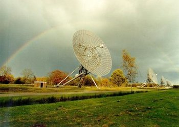 Radio telescope at Westerbork, the Netherlands