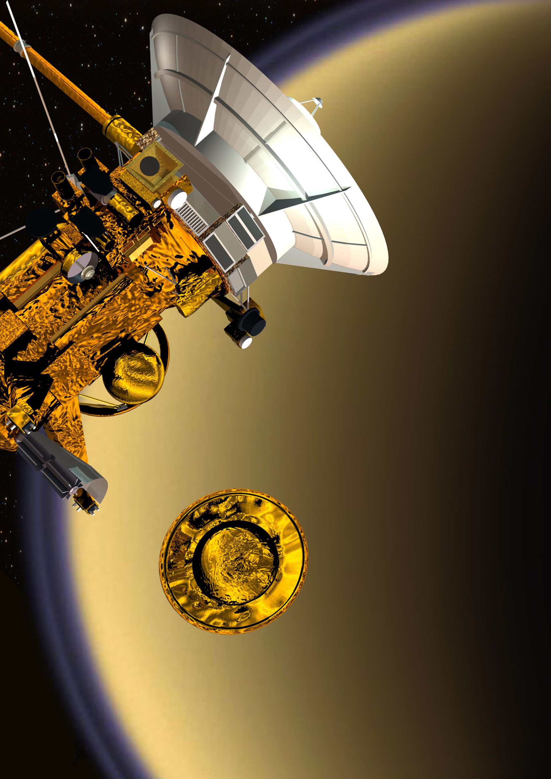Separation of Huygens from Cassini