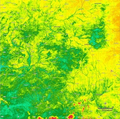 Vegetation map of the Darfur province