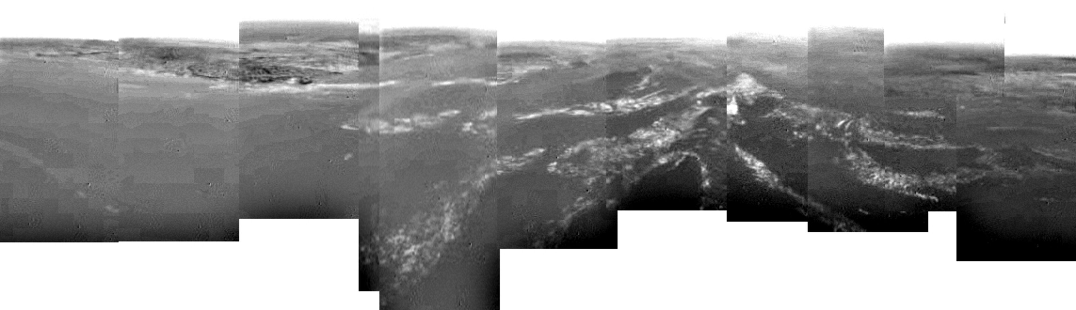 Composite of Titan's surface seen during descent