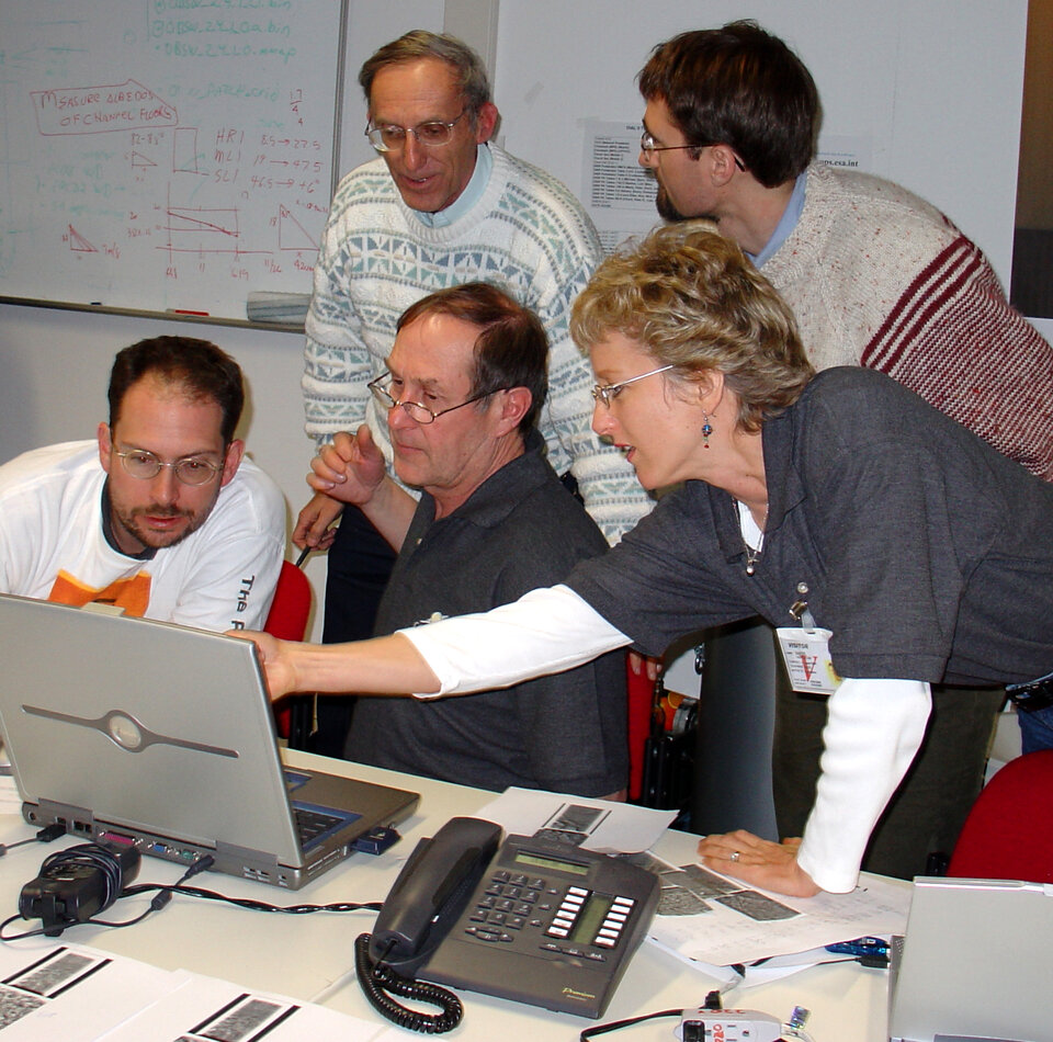 DISR scientists working at ESOC