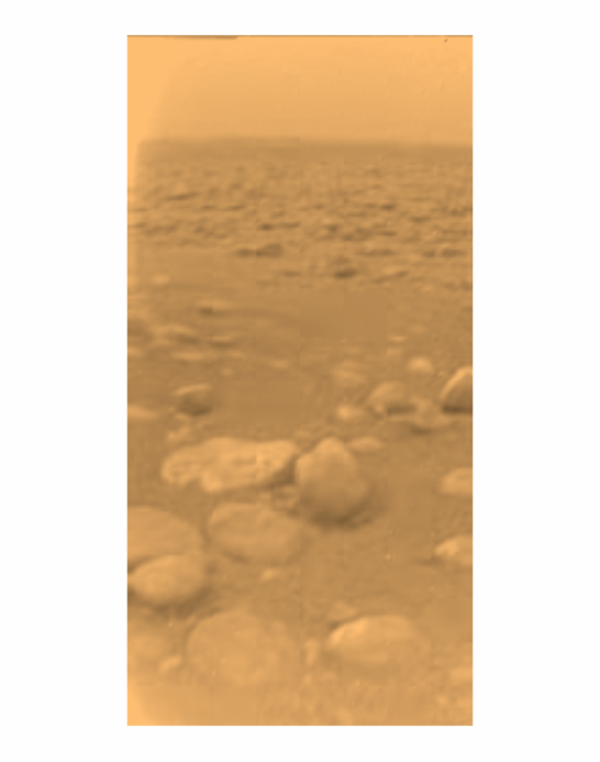 First colour view of Titan's surface