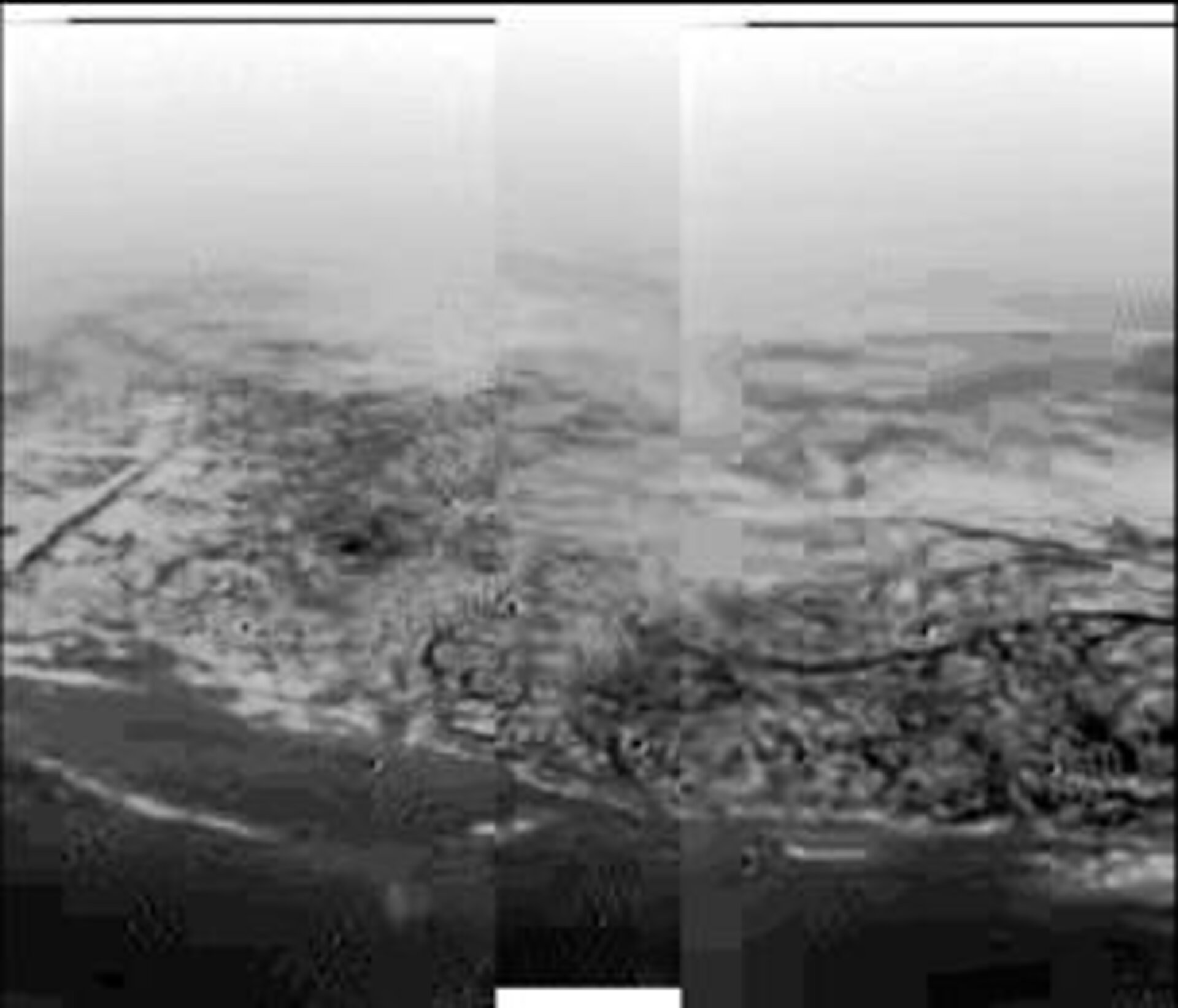 Huygens' view of Titan