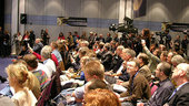 Press crowd at ESOC