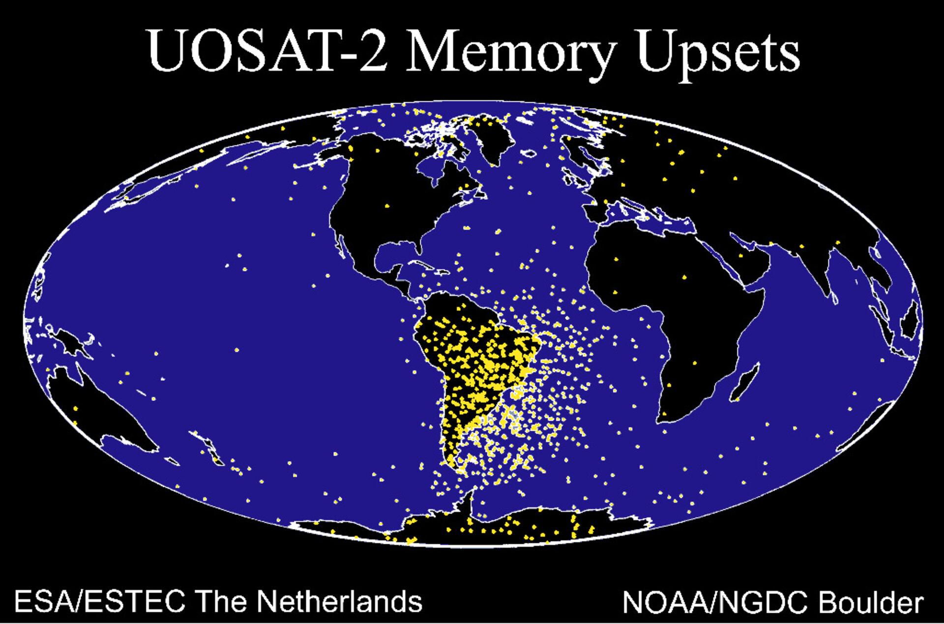 Spacecraft faults: more common over the South Atlantic