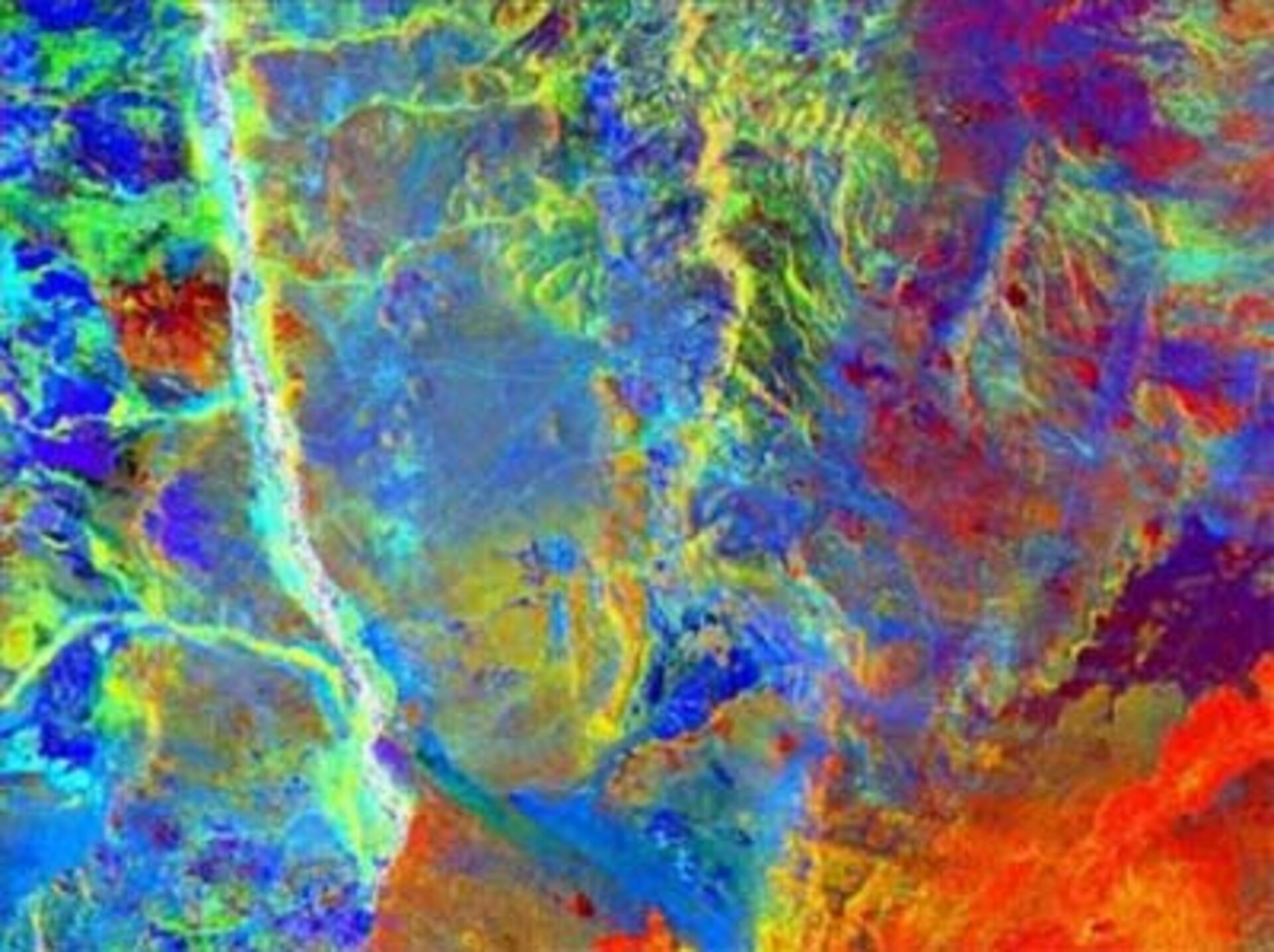 Surface characterisation in basalt areas