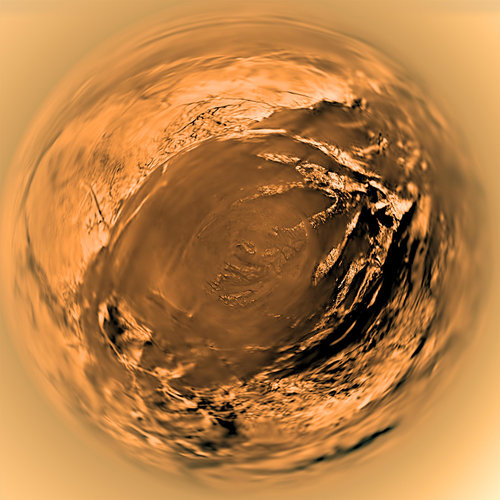 Huygens' fish-eye view of Titan a decade ago