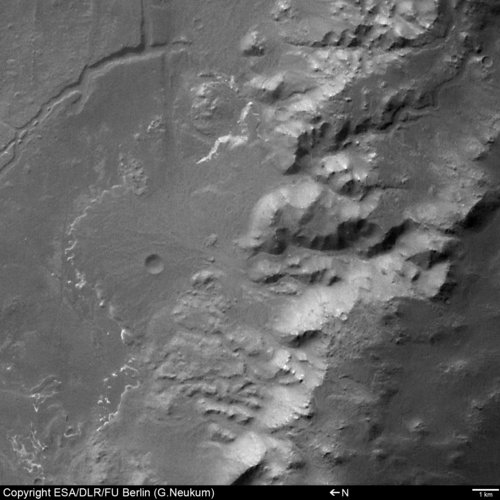 Alluvial fan in Crater Holden