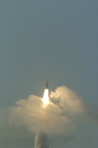 Ariane 5 ECA carrying its payload into orbit