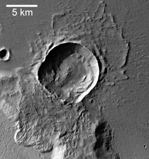 Detail 3 - an impact crater