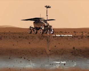 Pasteur instrument on ExoMars - artist's impression