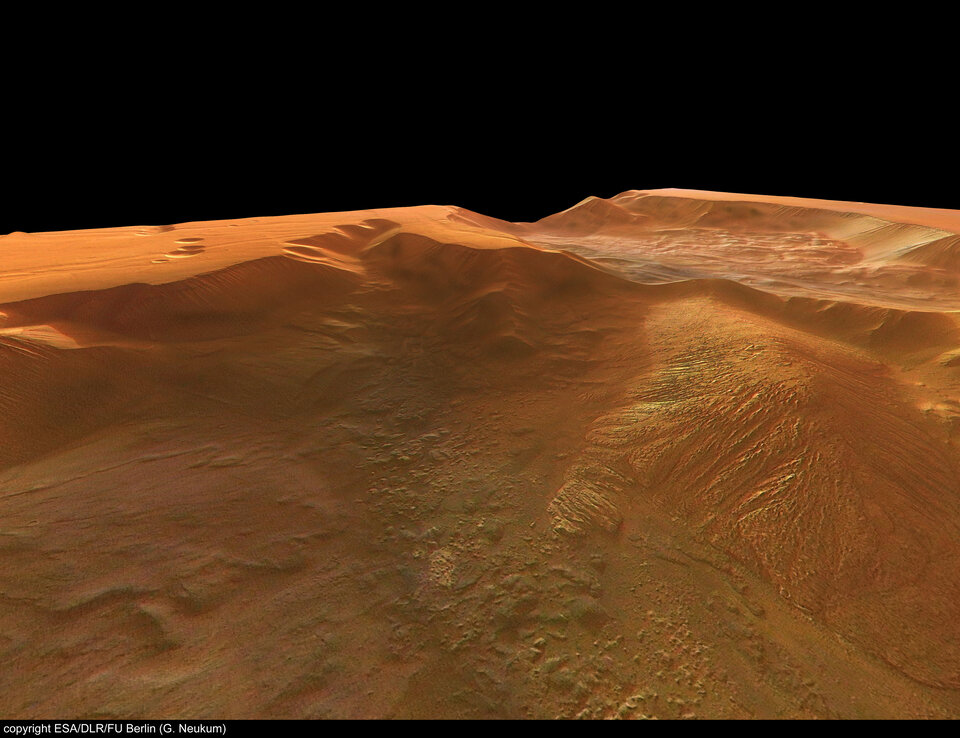 Perspective view of Tithonium Chasma, looking north-west