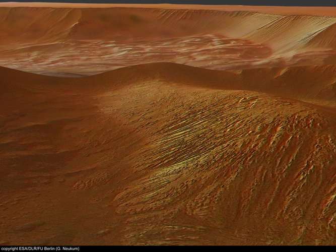 Perspective view of Tithonium Chasma, looking north