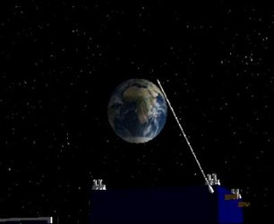 Rosetta flying past Earth 4 March 2005