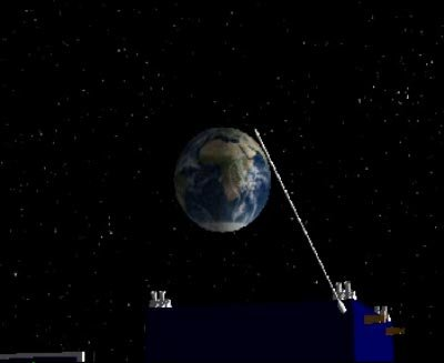 Rosetta in Earth orbit animation