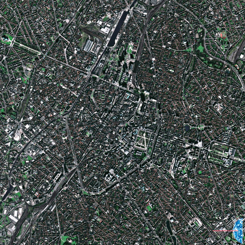 The centre of Brussels, as seen from France's Spot-5 satellite