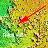 Map showing location of craters in context