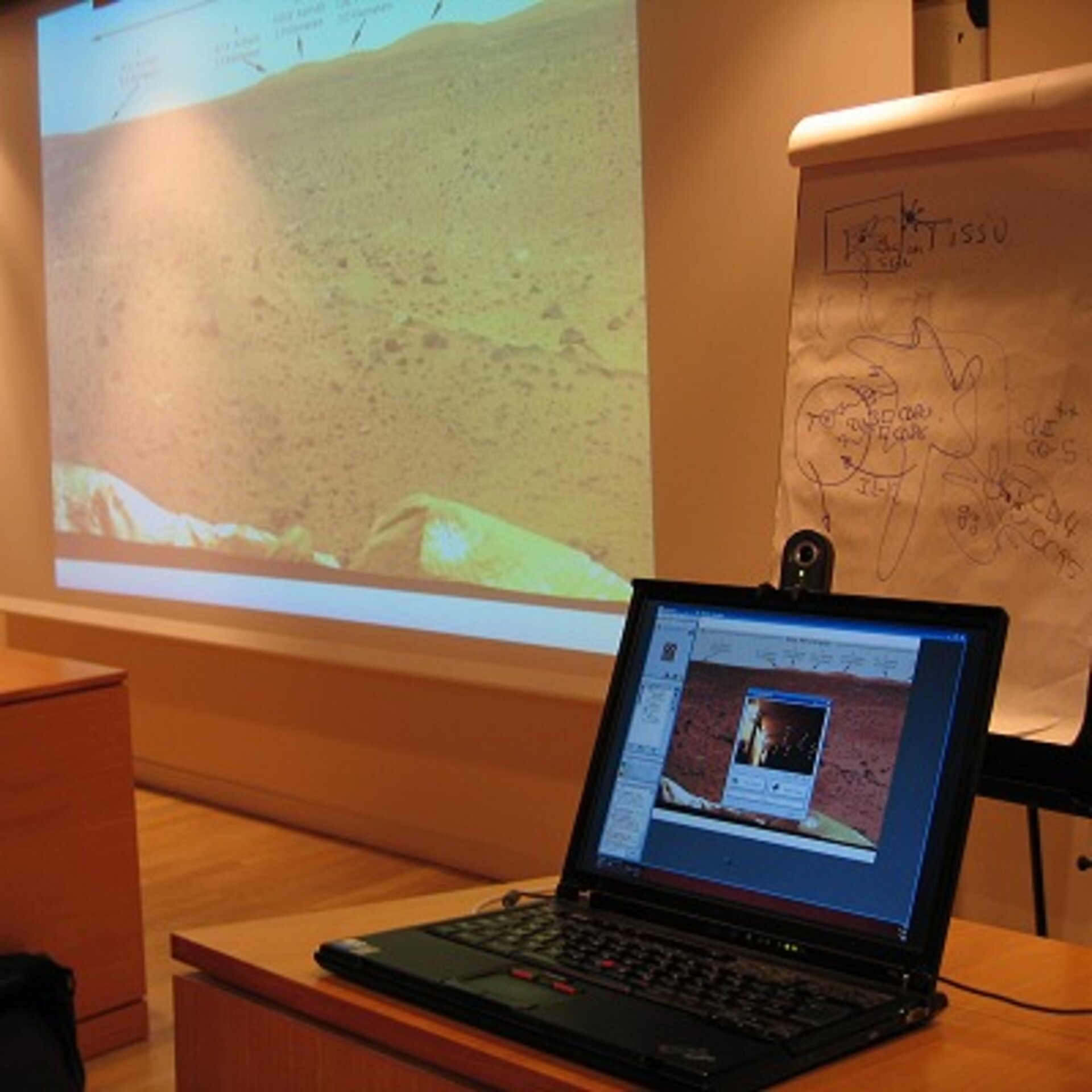 Participants could follow both the visuals and speech of the interactive lecturers over the Internet