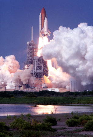Perfect launch for Space Shuttle Discovery on mission STS-105