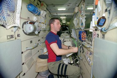 Roberto Vittori on board ISS