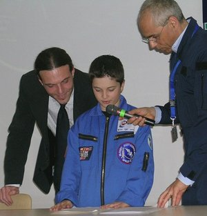 Competition winners spoke to Roberto Vittori on board the ISS