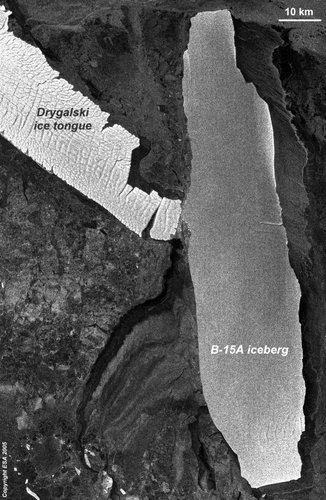Envisat image shows Drygalski crack