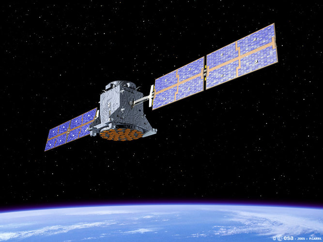 GSTB-V2/A in orbit (artist's impression)