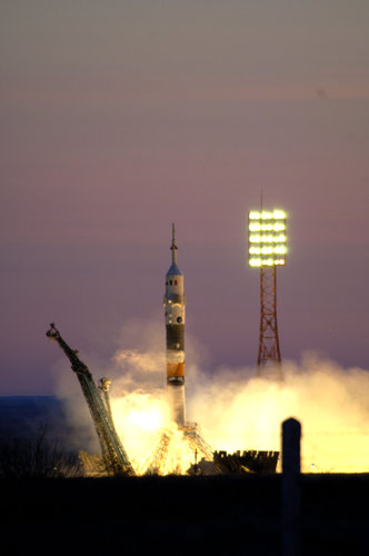 Launch of the Eneide Mission from Baikonur Cosmodrome in Kazakhstan