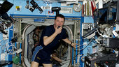 On board the ISS