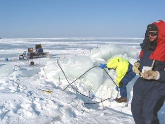 Measuring sea ice thickness