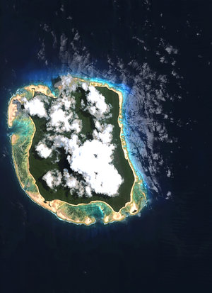 North Sentinel Island as seen from ESA's Proba satellite
